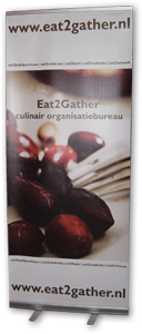 roll-up banner Eat2Gather